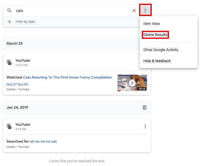 حفظ حریم خصوصی در گوگل